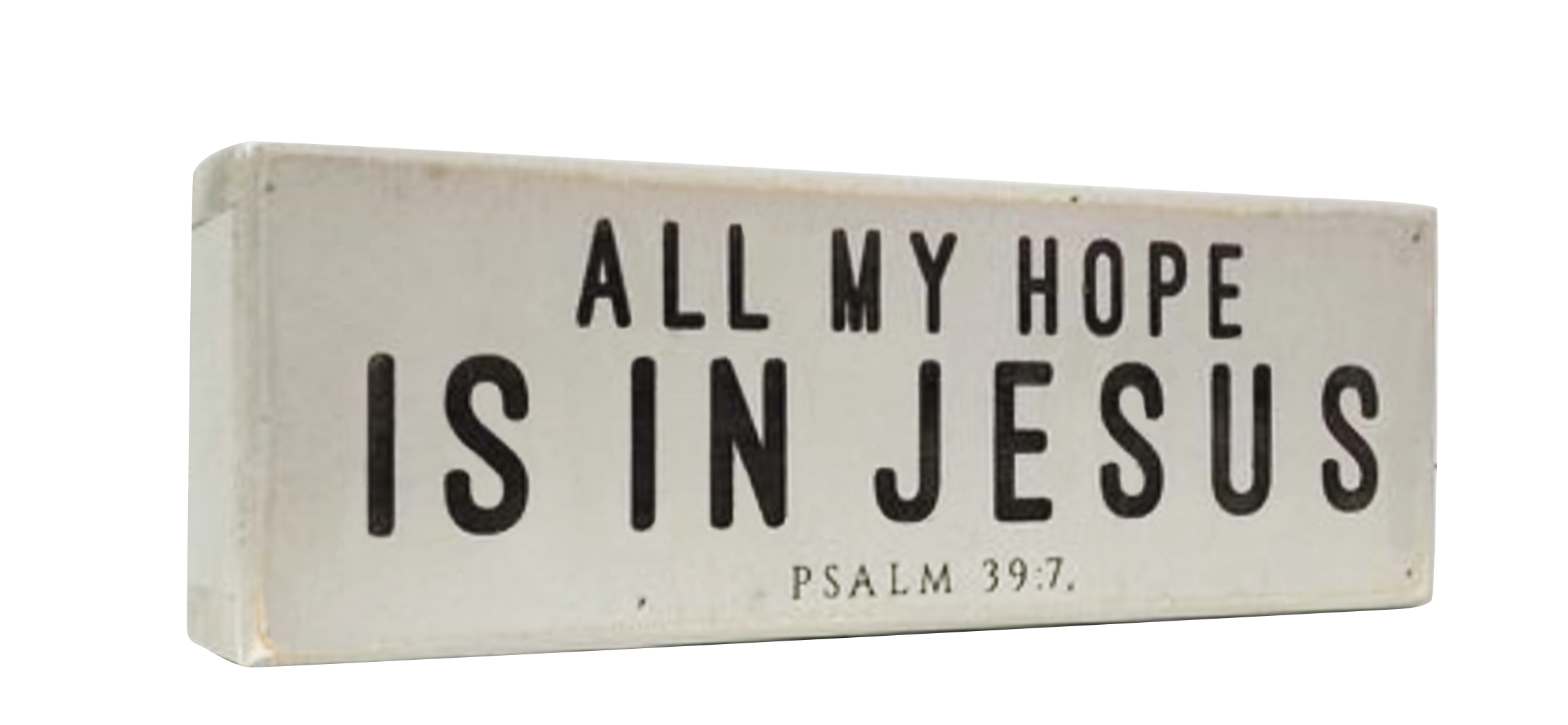 All My Hope Is In Jesus Wood Block