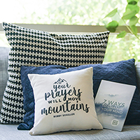 Prayer Pillow & 7 Ways to Change Your Mind Book w/ DVD