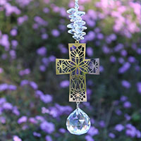 God Loves You Easter Cross Charm