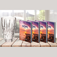 4 Keep Hope Alive Devotionals & Legacy of Hope Vase